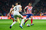 Angel Martin Correa of Atletico de Madrid and Jose Antonio Martinez of Granada CF during La Liga match between Atletico de Madrid and Granada CF at Wanda Metropolitano Stadium in Madrid, Spain. February 08, 2020. (ALTERPHOTOS/A. Perez Meca)