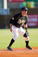 Shortstop Eric Garcia #10 of the Missouri Tigers on defense against the Charlotte 49ers at Robert and Mariam Hayes Stadium on February 25, 2011 in Charlotte, North Carolina.  Photo by Brian Westerholt / Four Seam Images