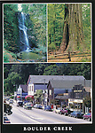 FB 161R,  Boulder Creek.  5x7 postcard
