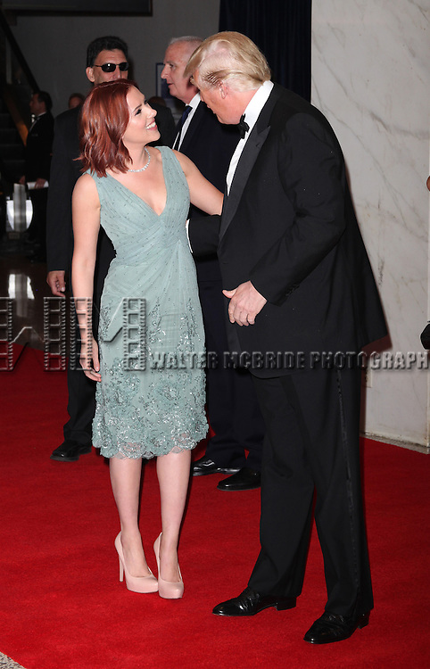 Scarlett Johansson &amp; Donald Trump<br /> attending the White House Correspondents' Association (WHCA) dinner at the Washington Hilton Hotel in Washington, D.C..