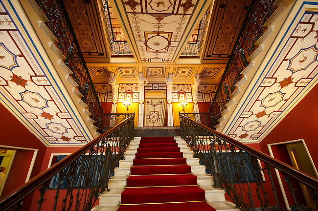 Stairway of the Achilleion  [ Achilles, ???????? ]  Palace [ 1890 built by Elizabeth [ Sissi ] Emperess of Austria