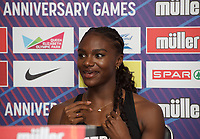 Dina Asher-Smith (Great Britain) – 100m - Triple European champion & multi-global medallist during the Muller Anniversary Games 2019 pre-event media day at the Leonardo Royal Hotel, Prescod Street, England on 19 July 2019. Photo by Alan  Stanford.