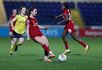 13th February 2020; Deva Stadium, Chester, Cheshire, England; Womens Super League Football, Liverpool Womens versus Arsenal Womens;  Leighanne Robe of Liverpool Women plays th eball inside