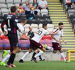 Tony Watt celebrates hitting the winner for Hearts in the last minute