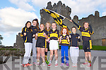 Dr Crokes supporters Fiona Galvin, Kate Stack, Aine O'Connor, Caoilinn O'Donoghue, Niamh Stack, Sadhbh Stack, Ella Galvin and Pia Hickey preparing their support ahead of the County final against Austin Stacks this Sunday