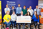 Pieta House receiving a cheque for €411 from PTSB in Tralee on Thursday. <br /> Front l to r: Pat Turner, Ann O'Shea, Con O'Connor (Pieta House), Marie Neligan (PTSB Manager) and Aine Culloty.<br /> Back l to r: Jordan Conway, Rose Dowling, Thomas Fortune, Niamh O'Carroll, Martin Brosnan and Paul Carroll.