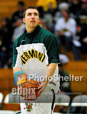 12 December 2010: University of Vermont Catamount forward Brian Voelkel, a Freshman from Pleasantville, NY, warms up prior to game action against the Marist College Red Foxes at Patrick Gymnasium in Burlington, Vermont. The Catamounts (7-2) defeated the Red Foxes  75-67 notching their 7th win of the season, and their best start since the '63-'64 season. Mandatory Credit: Ed Wolfstein Photo