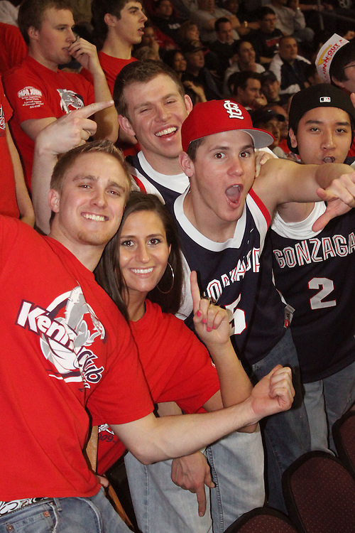 LAS VEGAS, NV - MARCH 7:  Fans during the Gonzaga Bulldogs 77-62 win over Loyola Marymount in the WCC Basketball Tournament on March 7, 2010 at Orleans Arena in Las Vegas Nevada.