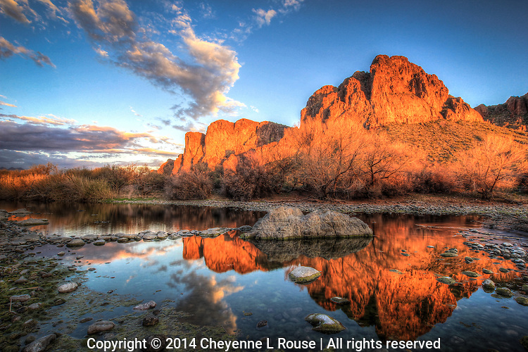 Rocky Reflection - Arizona - Salt River
