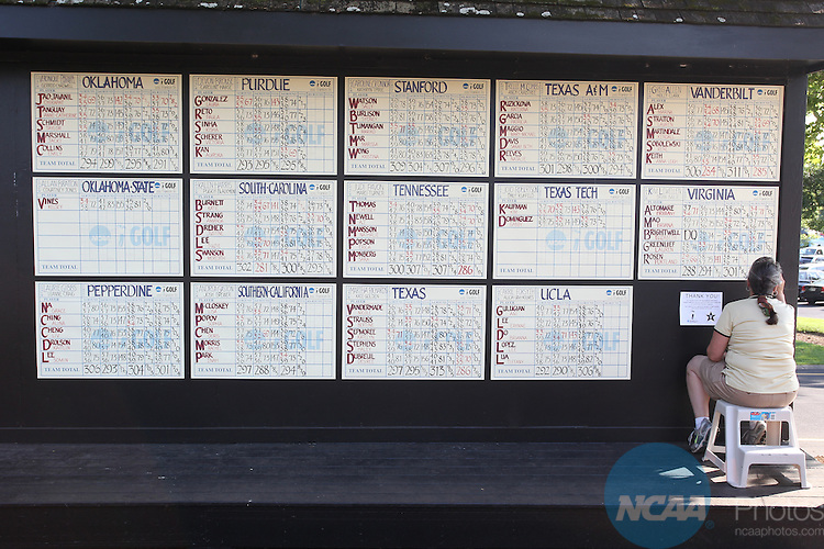 25 MAY 2012:  The Division I Women?s Golf Championship is held at the Vanderbilt Legends Club in Franklin, TN.  The University of Alabama won the team national title.  Tim Clark/ NCAA Photos