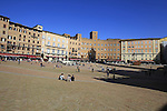 Il Campo Piazza in Siena, Tuscany, Italy. 7th March 2014.<br /> Picture: Eoin Clarke Photography