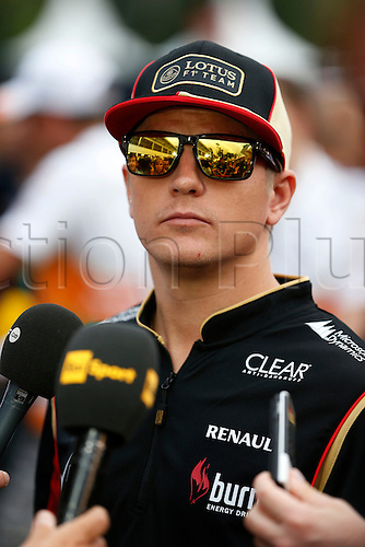 20.09.2013. Singapore. FIA Formula One World Championship 2013, Grand Prix of Singapore, <br /> #7 Kimi Raikkonen (FIN, Lotus F1 Team),