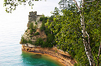 Miners Castle is a unique rock formation within the Pictured Rocks National Lakeshore. Munising, MI