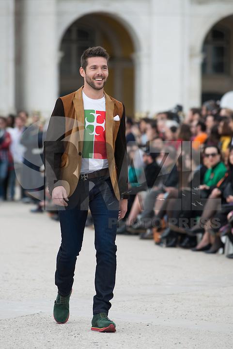 LISBOA, PORTUGAL, 08.03.2014 - LISBOA FASHION WEEK - NUNO GAMA - Modelo durante desfile da grife Nuno Gama no Lisboa Fashion Week no Terreiro do Paço em Lisboa capital de Portugal, nesse Domingo, 09. (Foto: Bruno Pereira / Brazil Photo Press).