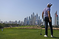 Alvaro Quiros (ESP) on the 8th tee during Round 3 of the Omega Dubai Desert Classic, Emirates Golf Club, Dubai,  United Arab Emirates. 26/01/2019<br /> Picture: Golffile | Thos Caffrey<br /> <br /> <br /> All photo usage must carry mandatory copyright credit (© Golffile | Thos Caffrey)