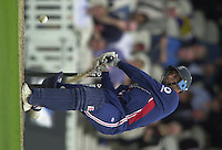 09/07/2002 - Tue.Sport - Cricket-  NatWest Series - Eng vs India Oval.England batting - Nasser Hussian and Paul Collingwood..
