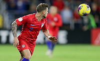 ORLANDO, FL - NOVEMBER 15: Paul Arriola #7 of the United States moves to the ball during a game between Canada and USMNT at Exploria Stadium on November 15, 2019 in Orlando, Florida.