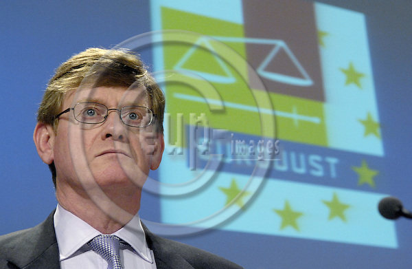 Brussels-Belgium - 17 April 2007---Michael KENNEDY, President of the College of EUROJUST and National Member for the UK, during a press briefing at the HQ of the EC---Photo: Horst Wagner/eup-images