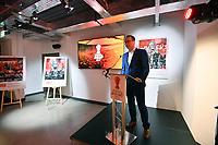 Picture by Simon Wilkinson/SWpix.com - 09/11/2018 - RLWC 2021 Rugby League World Cup 2021 Paul Barrière Trophy - The Cockerel Reveal, Avenue HQ. Leeds<br /> - Jon Dutton