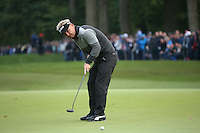 Soren Kjeldsen (DEN) putting on the last during the Final Round of the British Masters 2015 supported by SkySports played on the Marquess Course at Woburn Golf Club, Little Brickhill, Milton Keynes, England.  11/10/2015. Picture: Golffile | David Lloyd<br /> <br /> All photos usage must carry mandatory copyright credit (© Golffile | David Lloyd)