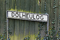 Pictured: The street sign where the house in Aberaeron is located, where the remains of a woman have been discovered in Ceredigion County, Wales, UK. Wednesday 21 March 2018<br /> Re: Human remains have been found in a house following a police investigation to find a missing woman.<br /> Police were called to the property in Aberaeron, west Wales after a woman in her 50s collapsed.<br /> Police also discovered the woman's mother, in her 80s, who had not been seen for some time.<br /> The women were named locally as Gaynor and Valerie Jones, with police currently treating the death as unexplained.<br /> The two women have ben described as &quot;reclusive&quot; by neighbours and the home they shared as being &quot;heavily cluttered&quot;.