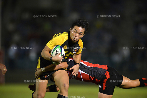 Hiroki Miyamoto (Sungoliath),.SEPTEMBER 22, 2012 - Rugby : Japan Rugby Top League 2012-2013, 4th Sec match between Suntory Sungoliath 42-17 Canon Eagles at Chichibunomiya Rugby Stadium, Tokyo, Japan. (Photo by Jun Tsukida/AFLO SPORT).