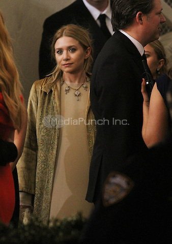 05 02 2016: Ashley Olsen at Manus X Machina: Fashion In An Age of Technology at Metropolitan Museum of Art in New York. Credit:RWMediaPunch