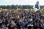 Rock Against Racism march and rally Hyde Park London 1978. Anti Nazi League banner says Love Music Hate Racism. 1970s UK