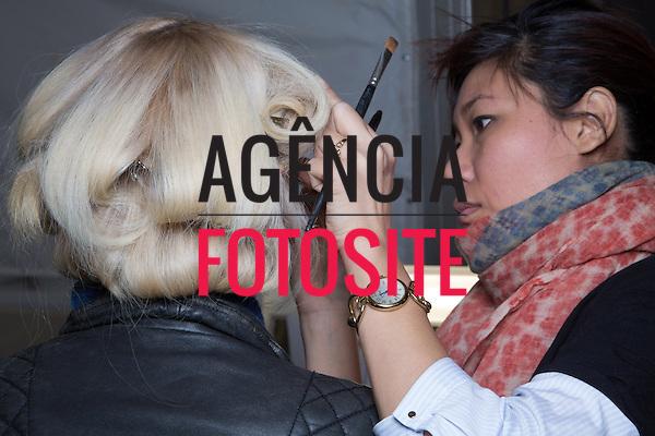 Nova Iorque, EUA &ndash; 02/2014 - Desfile de J Mendel durante a Semana de moda de Nova Iorque - Inverno 2014. <br /> Foto: FOTOSITE