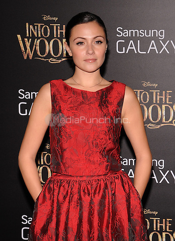 New York,NY-December 8:  Italia Ricci Attends the 'Into The Woods' world premiere at the Ziegfeld Theater on December 8, 2014. Credit: John Palmer/MediaPunch