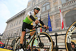 Edvald Boasson Hagen (NOR) Team Dimension Data at the team presentation in Antwerp before the start of the 2019 Ronde Van Vlaanderen 270km from Antwerp to Oudenaarde, Belgium. 7th April 2019.<br /> Picture: Eoin Clarke | Cyclefile<br /> <br /> All photos usage must carry mandatory copyright credit (&copy; Cyclefile | Eoin Clarke)
