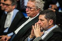 Giosue' Naso avvocato di Massimo Carminati, a destra, all'udienza di apertura del processo su Mafia Capitale, al Tribunale di Roma, 5 novembre 2015.<br /> Massimo Carminati's lawyer Giosue' Naso, right, attends the opening audience of the trial on Mafia Capitale, at Rome's court, 5 November 2015.<br /> UPDATE IMAGES PRESS/POOL - AGF - Alessandro Serrano'˜