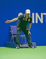 21-12-13,Netherlands, Rotterdam,  Topsportcentrum, Tennis Masters, Linesman<br /> Photo: Henk Koster