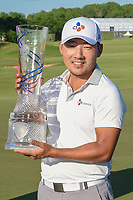 Sung Kang (USA) with the trophy for winning the AT&T Byron Nelson, Trinity Forest Golf Club, Dallas, Texas, USA. 5/12/2019.<br /> Picture: Golffile   Ken Murray<br /> <br /> <br /> All photo usage must carry mandatory copyright credit (© Golffile   Ken Murray)
