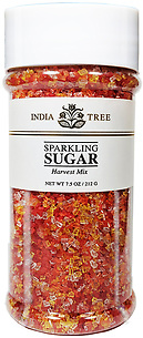 10223 Harvest Mix Sparkling Sugar, Tall Jar 7.5 oz, India Tree Storefront