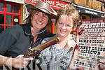 Ye haw: Nuala Quinn of the Jesse James Tavern and Maria Lynch of Jack J's Bar in Asdee, where wild west weekend is taking place from Friday night to raise money for the Cancer Care Unit.   Copyright Kerry's Eye 2008
