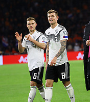 Joshua Kimmich (Deutschland Germany), Toni Kroos (Deutschland Germany) - 24.03.2019: Niederlande vs. Deutschland, EM-Qualifikation, Amsterdam Arena, DISCLAIMER: DFB regulations prohibit any use of photographs as image sequences and/or quasi-video.