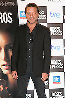 "Enrique Arce attends the ""DIOSES Y PERROS "" Movie presentation at Kinepolis Cinema in Madrid, Spain. October 6, 2014. (ALTERPHOTOS/Carlos Dafonte) /nortephoto.com"