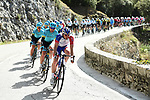 The peleton with Groupama-FDJ and Astana Pro Team on the front during Stage 5 running 165km from Salon-de-Provence to Sisteron, France. 8th March 2018.<br /> Picture: ASO/Alex Broadway | Cyclefile<br /> <br /> <br /> All photos usage must carry mandatory copyright credit (&copy; Cyclefile | ASO/Alex Broadway)