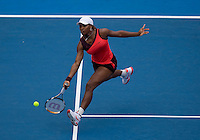 Serena Williams (USA) against Vera Dushvina (RUS) in the Quarterfinals of the Womens Singles. Williams beat Dushvina 6-2 6-2..International Tennis - Medibank International Sydney - Wed 13 Jan 2010 - Sydney Olympic Park  Tennis Centre- Sydney - Australia ..© Frey - AMN Images, 1st Floor, Barry House, 20-22 Worple Road, London, SW19 4DH.Tel - +44 20 8947 0100.mfrey@advantagemedianet.com