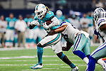 Miami Dolphins running back Jay Ajayi (23) in action during the pre-season game between the Miami Dolphins and the Dallas Cowboys at the AT & T stadium in Arlington, Texas.