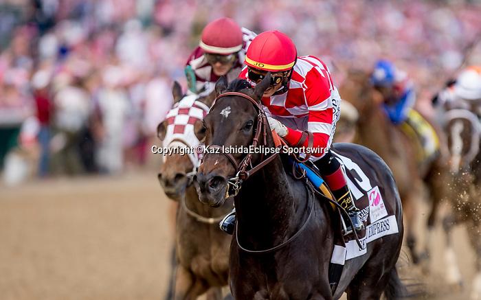 May 3, 2019 : Serengeti Empress, #13, ridden by Jose L Ortiz, wins the Longines Kentucky Oaks on Kentucky Oaks Day at Churchill Downs on May 3, 2019 in Louisville, Kentucky. Kaz Ishida/Eclipse Sportswire/CSM