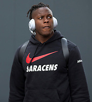Saracens' Maro Itoje arrives at the ground<br /> <br /> Photographer Bob Bradford/CameraSport<br /> <br /> Gallagher Premiership - Bristol Bears v Saracens - Saturday 13th April 2019 - Ashton Gate - Bristol<br /> <br /> World Copyright © 2019 CameraSport. All rights reserved. 43 Linden Ave. Countesthorpe. Leicester. England. LE8 5PG - Tel: +44 (0) 116 277 4147 - admin@camerasport.com - www.camerasport.com