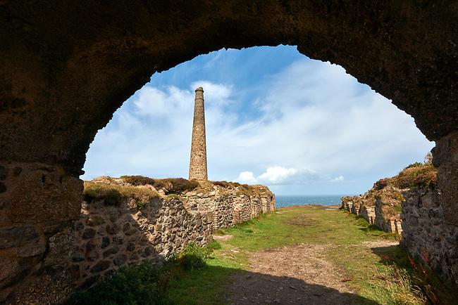 Ruins of Botallack Tin Mine, Near St Agnes, Cornwall