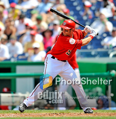 8 June 2008: Washington Nationals' infielder Kory Casto at bat against the San Francisco Giants at Nationals Park in Washington, DC. The Nationals dropped the afternoon matchup to the Giants 6-3 in their third consecutive loss of the 4-game series...Mandatory Photo Credit: Ed Wolfstein Photo