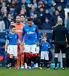02.02.2019: Rangers v St Mirren: James Tavernier leads the teams out