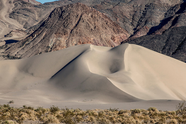 Ibex Dunes in a remote part of Death Valley National Park, California