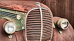 Grill of mid 1930s rusty Ford truck, Ghost town of Bradley, Calfiornia, along US 101