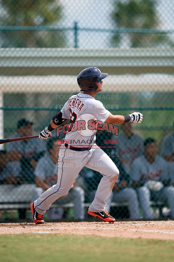 Detroit Tigers Anthony Pereira (68) at bat during an Instructional League game against the Pittsburgh Pirates on October 6, 2017 at Pirate City in Bradenton, Florida.  (Mike Janes/Four Seam Images)