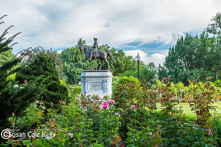 The George Washington statue in the Public Garden, Boston, Massachusetts, USA